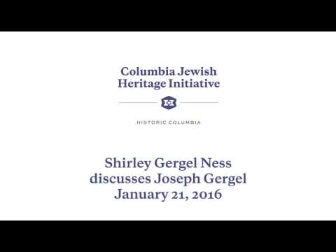 Shirley Gergel Ness discusses Joseph Gergel