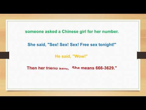 Someone asked a Chinese girl for her number