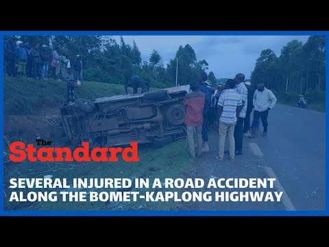 Several people injured in a road accident along the Bomet-Kaplong highway