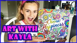 DO ART WHILE GETTING TO KNOW KAYLA | KAYLA STYLE | We Are The Davises
