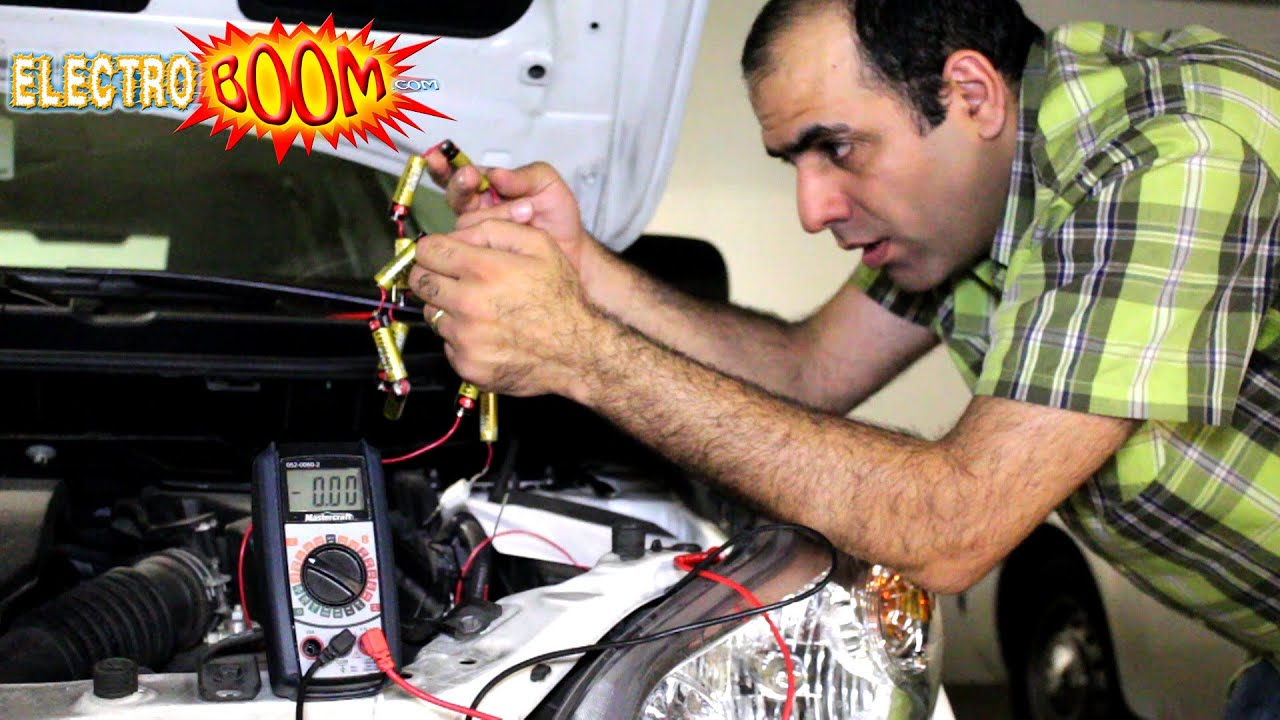 Jump Start A Car With Aa Batteries Youtube Wiring Resistor Box Honda