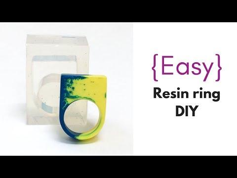 Easy resin ring tutorial for beginners
