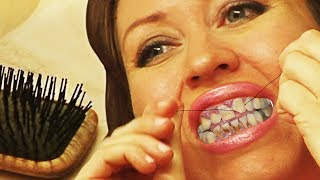 CHEAPEST MOM, Flosses Her Teeth With Hair...