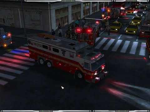 Emergency 4-- Manhattan Mod V3.0.5C Gameplay W/1st Alarm Building Fire