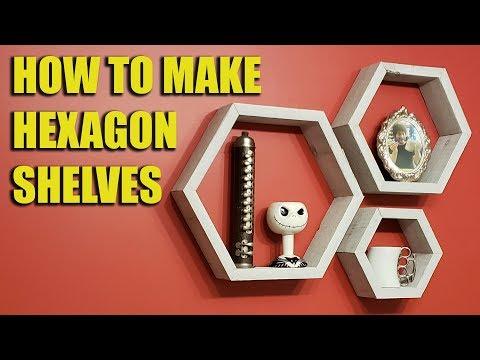How to Build Hexagon Shelves (Honeycomb Shelves)