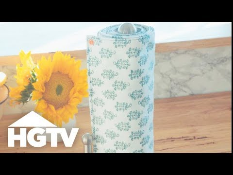 How to Make Reusable Un-Paper Towels - Easy Does It - HGTV