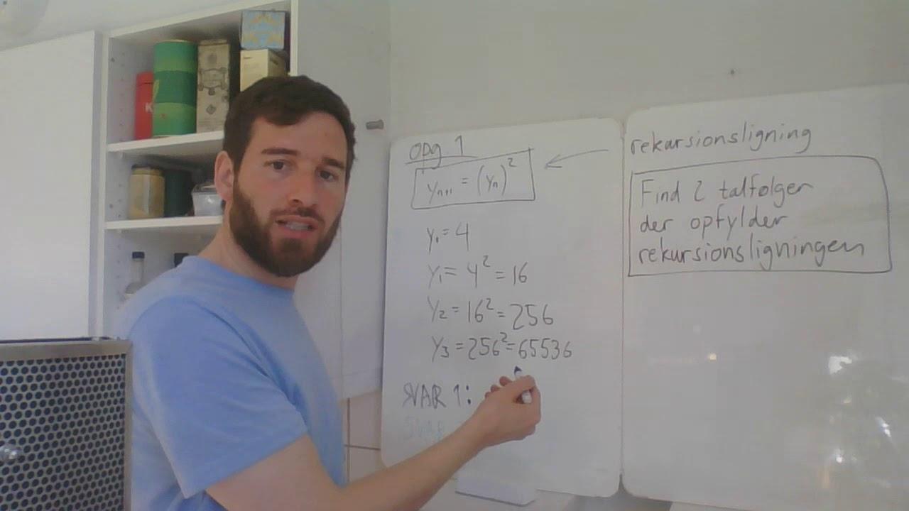Rekursionsligninger - hjælp til opgave 1