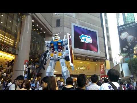 Gundam Docks at Time Square Hong Kong