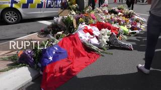 New Zealand: Mourners lay flowers for Christchurch mosque shooting victims