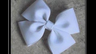 How To Make A Flat Boutique Hair Bow (Pinwheel Hair Bow) Tutorial