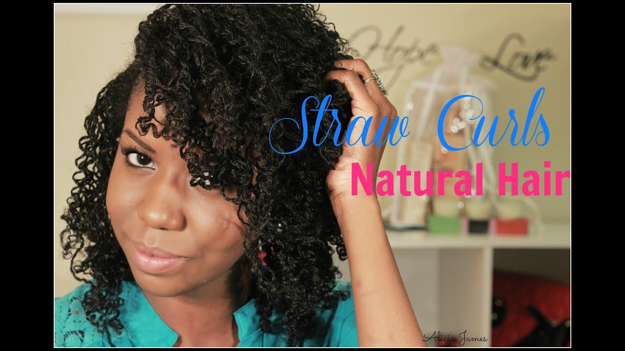 Straw Curls On Two Strand Twist Natural Hairstyle Youtube
