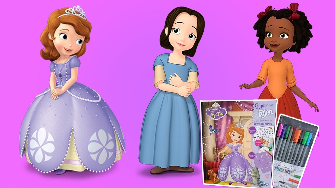 Prenses Sofia Arkadaslari Ruby Ve Jade Yi Misafir Ediyor Boyama