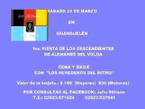 1ra. FIESTA DE LOS DESCENDIENTES DE ALEMANES DEL VOLGA EN HUANGUELÉN (Bs.As.)