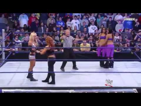 SmackDown 23/01/09 - The Bella Twins Michelle McCool & Natalya + Maria