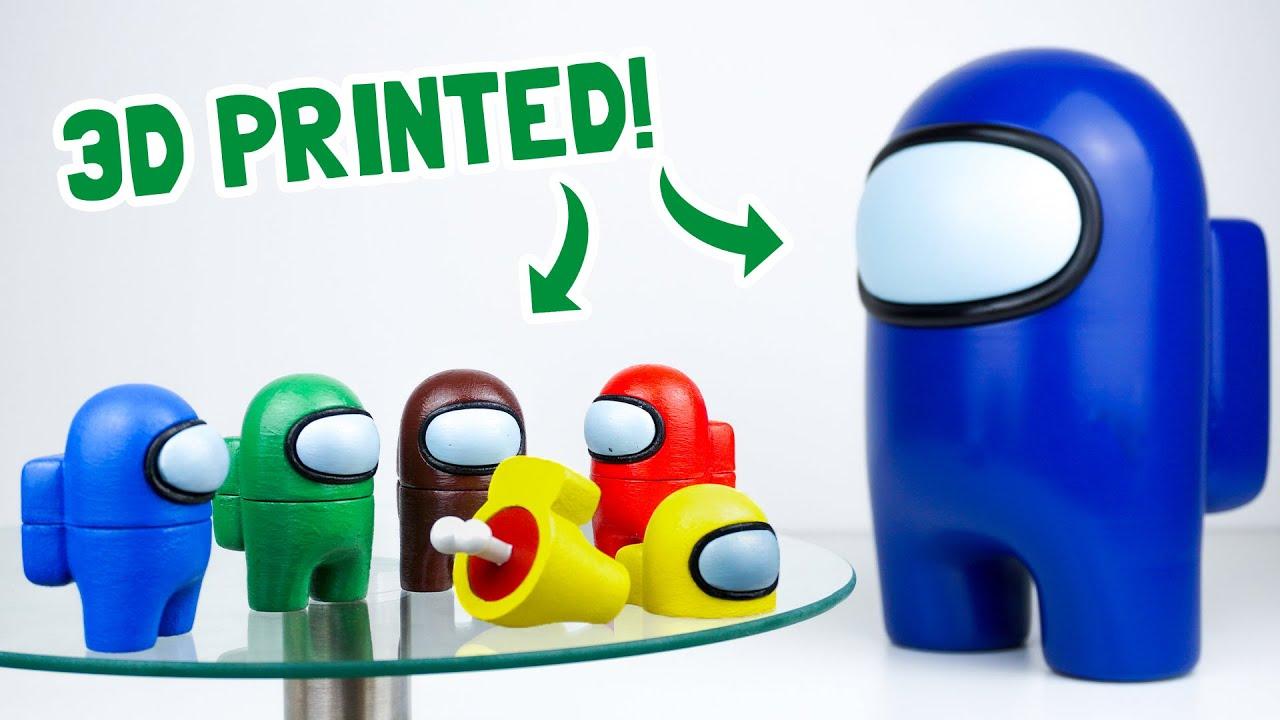 I 3D Printed Among Us Impostors + Huge One