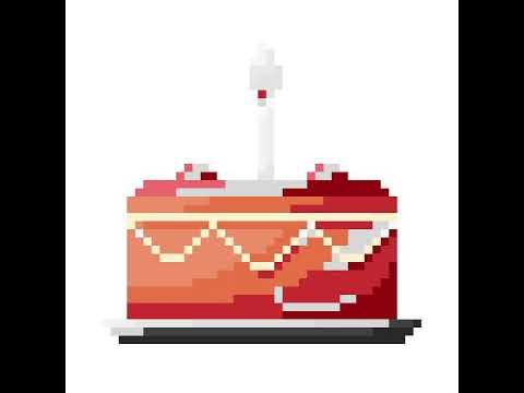 Pixel Art Dun Gâteau Danniversaire Youtube
