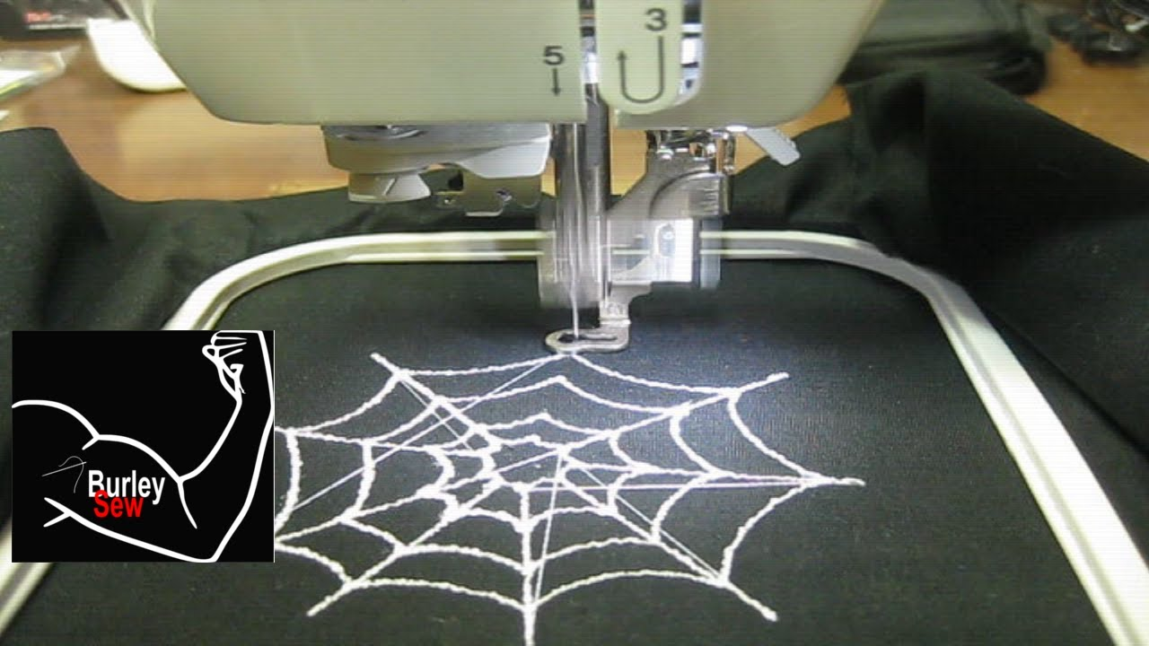 Halloween Spider Web Embroidery Design Created W Sophiesew Stitched Files In Description Youtube