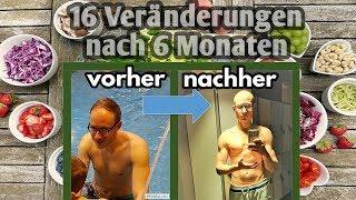 Meine Veränderungen nach 6 Monaten veganer Rohkost | Haut | Muskelaufbau | Gewicht | Verdauung