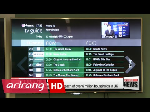 Arirang TV begins broadcasting on UK satellite networks