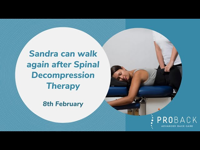 This is Sandra's story: Sandra can walk again after Spinal Decompression Therapy | ProBack Clinics
