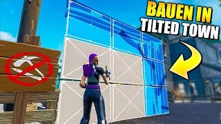 BUILD in Tilted Town with THIS GLITCH 💡 | Fortnite German