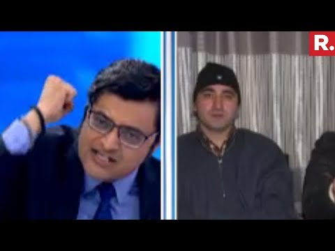Majid Hyderi Vs Arnab Goswami On Shopian Firing Debate
