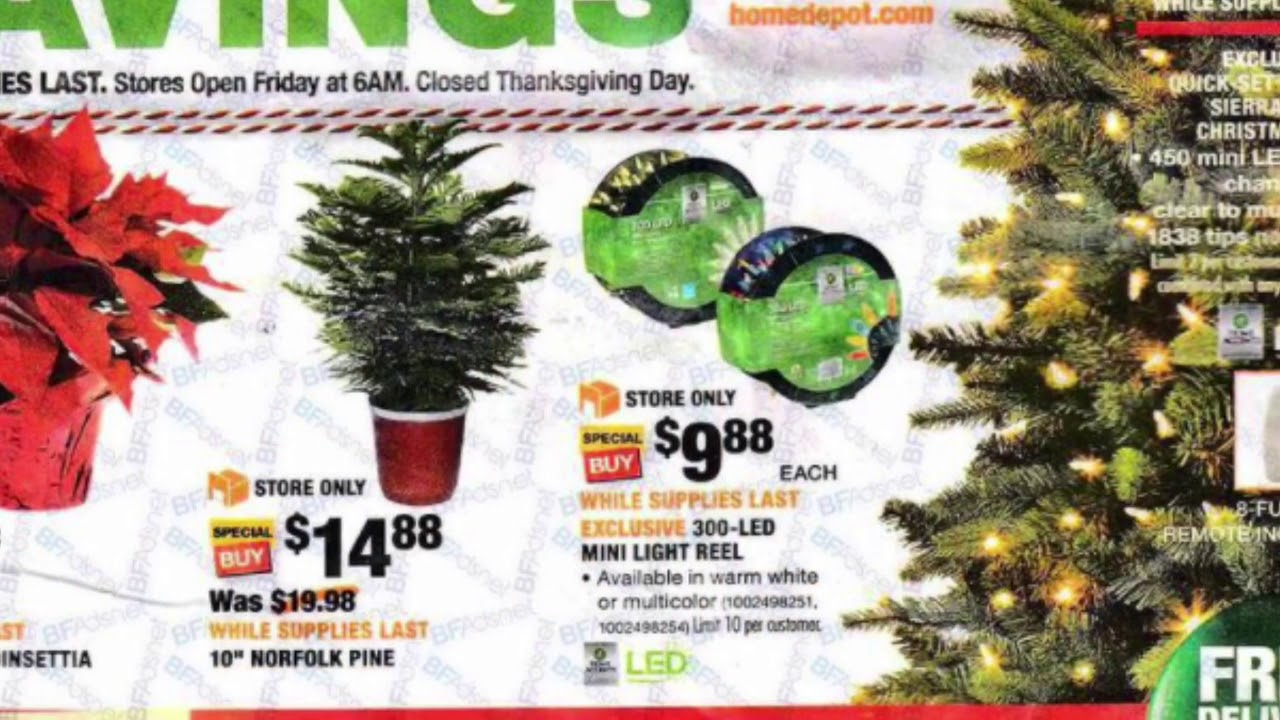 Home Depot Holiday Decorations Available For Black Friday 2017. Home Depot  USA.