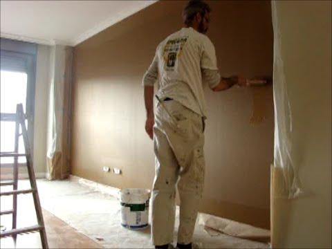 Como pintar paredes en esmalte marron oscuro y beige - Color beige en paredes ...