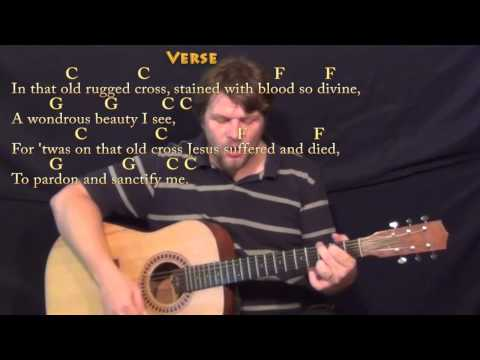 The Old Rugged Cross - Strum Guitar Cover Lesson in C with Chords/Lyrics