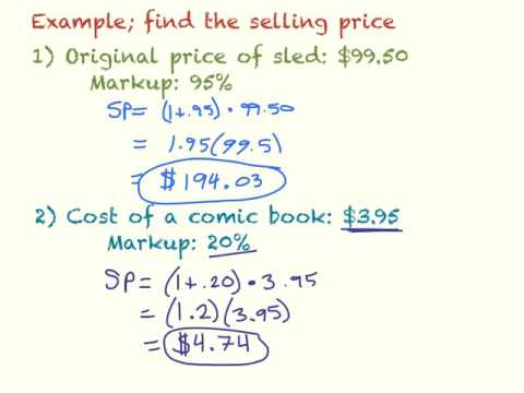 Markup, Discount, and Tax - YouTube