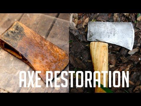 Old Rusty Axe Restoration