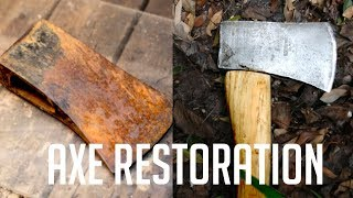 Old Rusty Axe Restoration