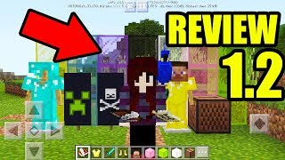 REVIEW COMPLETA DO MINECRAFT POCKET EDITION 1.2 TUDO QUE MUDOU ! MINECRAFT PE 1.2