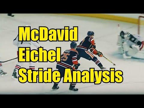 Connor McDavid and Jack Eichel stride analyzed by Robby Glantz