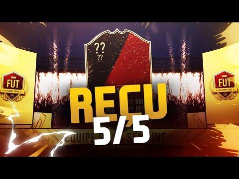 RÉCOMPENSES FUT CHAMPS - REÇU 5 SUR 5 !