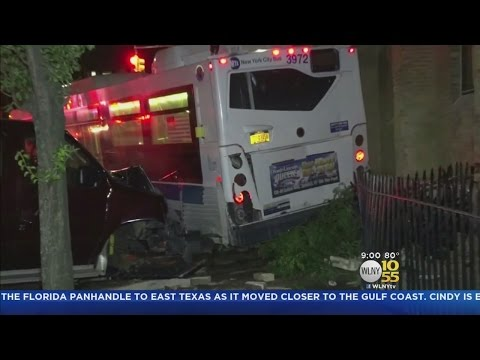 MTA Bus Rolls Backward In Brooklyn, Hitting 10 Parked Vehicles