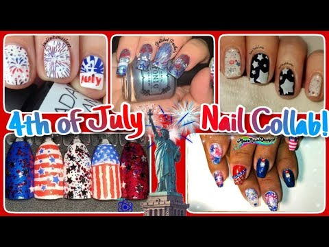 Stamping Nail Art Tutorial | 4th of July Manicure | Facebook Collab ✓ thumbnail