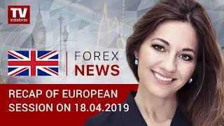 InstaForex tv news: 18.04.2019: Euro ticks down amid Germany's economy slowdown (EUR, USD, GBP, GOLD)