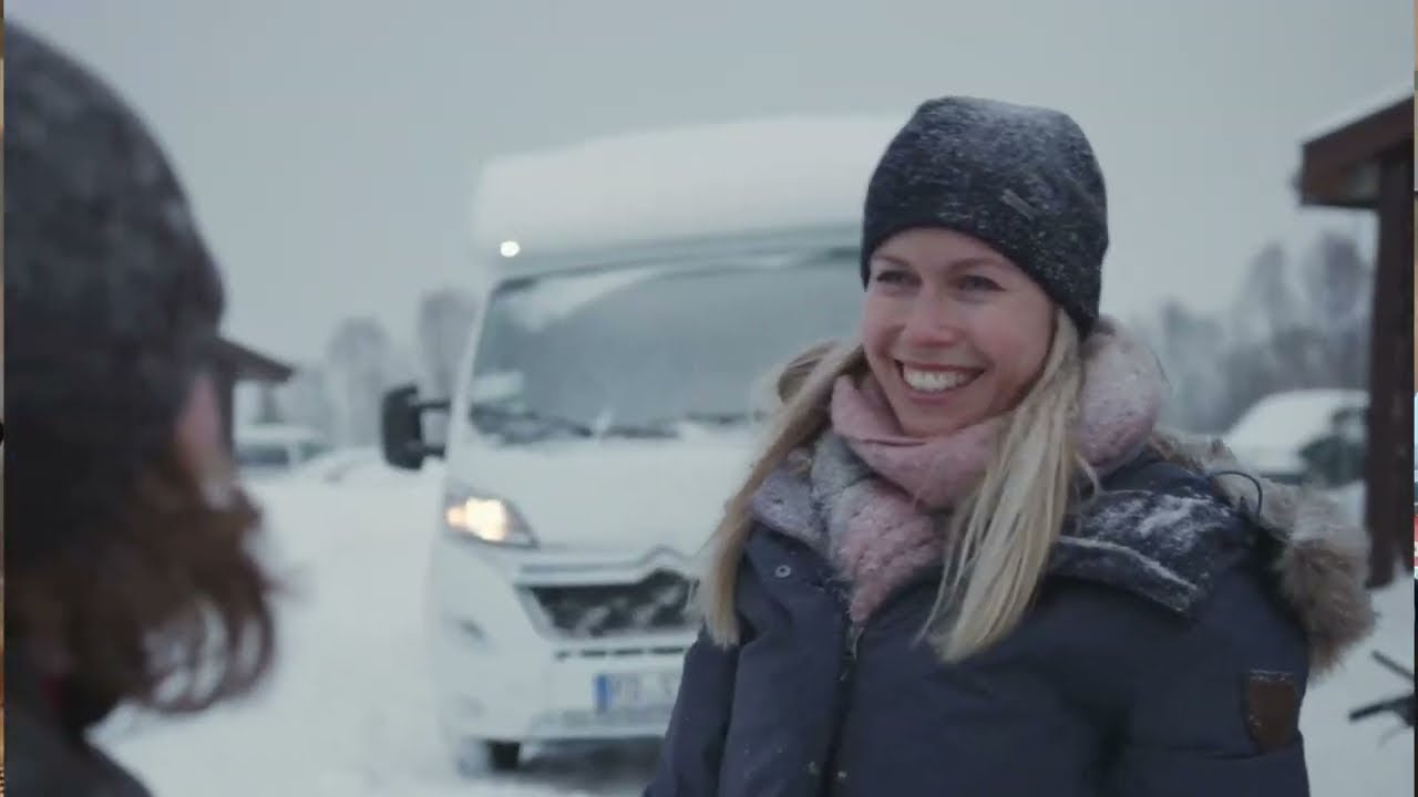 Download Winter trip to Norway in a Hobby motorhome