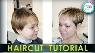 Haircut Tutorial: Women's Short Haircut (Короткая женская стрижка)