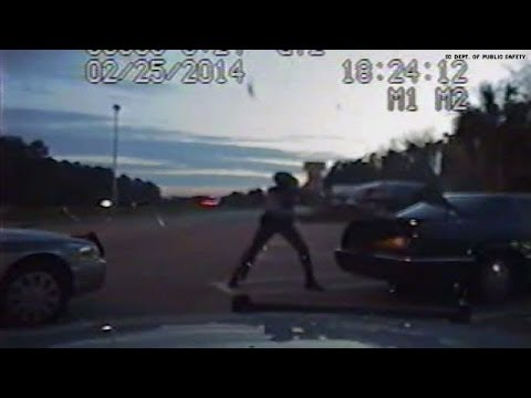 Dash cam video: Kidnapped woman found in trunk