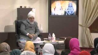 Gulshan-e-Waqfe Nau (Nasirat) Class: 16th October 2010 - Part 3 (Urdu)