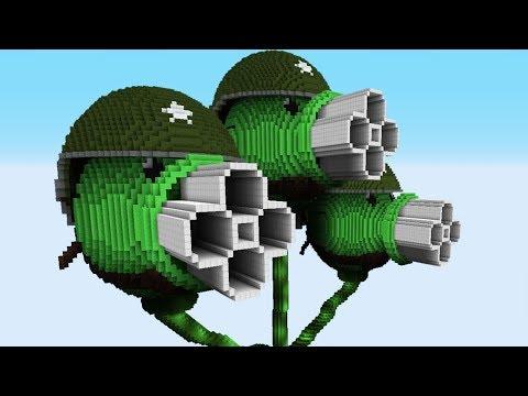GATLING THREEPEATER Vs SUPER GATLING PEA SHOOTER – PvZ Vs Minecraft Vs Smash