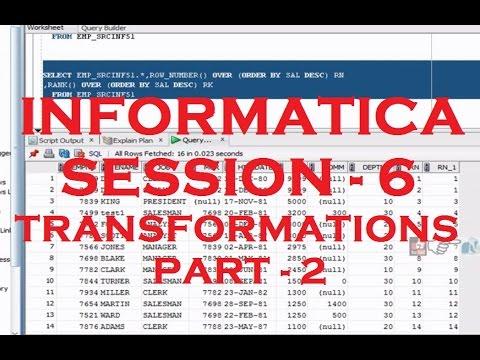 Informatica Tutorial - Session - 6 - Transformations - Source Qualifier Transformation - Part 2