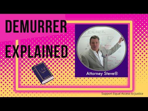 Header of demurrer