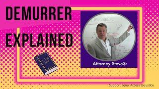 Legal definition of Demurrer