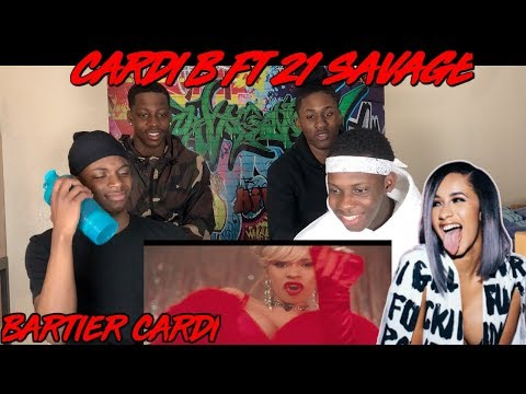 Cardi B - Bartier Cardi (feat. 21 Savage) [Official Video] - REACTION