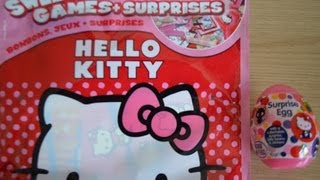 Hello Kitty Surprise Pack Sanrio Surprise Egg Toys Kitty White Kiti howaito opening