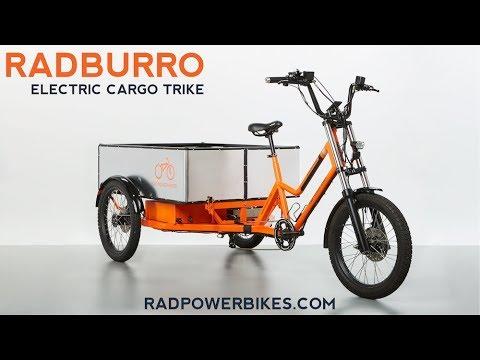 RadBurro Electric Cargo Trike - Rad Power Bikes Commercial Division