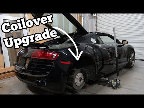 I Upgraded my Salvage Audi R8's Wrecked Suspension & Saved $3,000 in the Process!